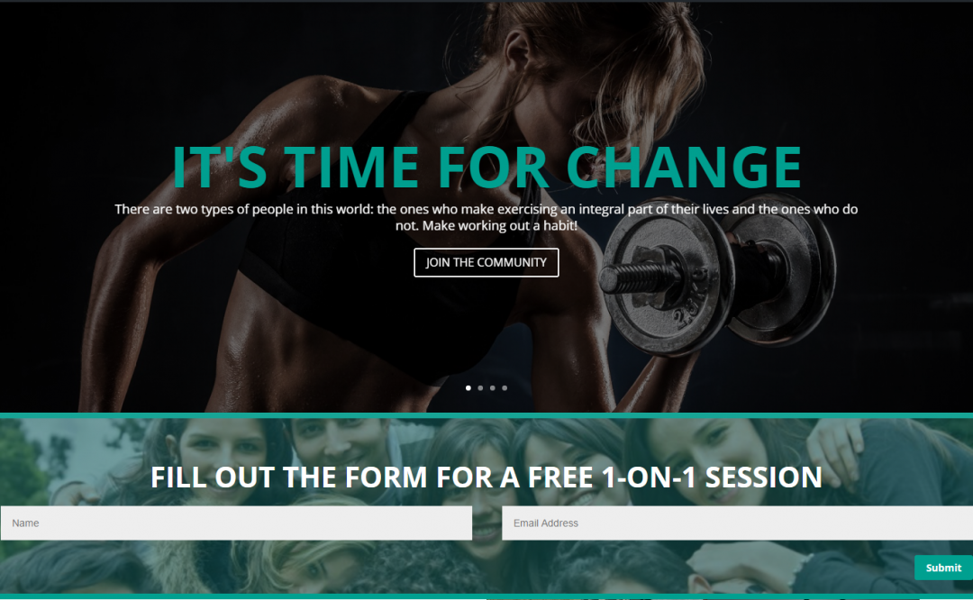 Fitness Website – Sample 1