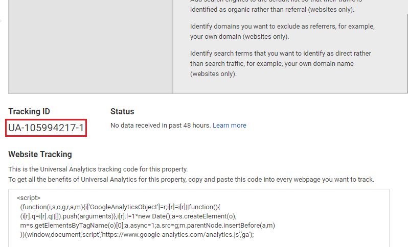 Google Analytics - Tracking Code