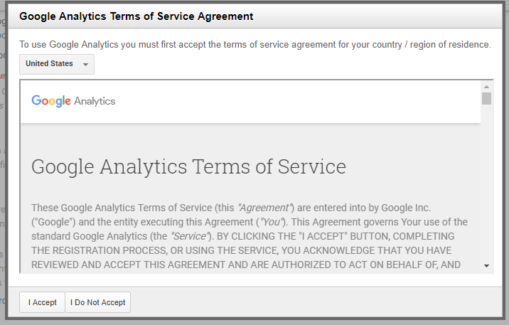 Google Analytics - General Settings