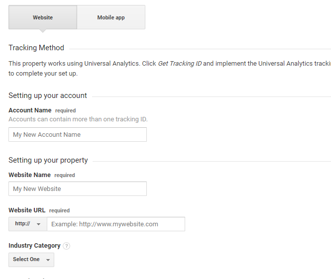 Google Analytics - Website Information